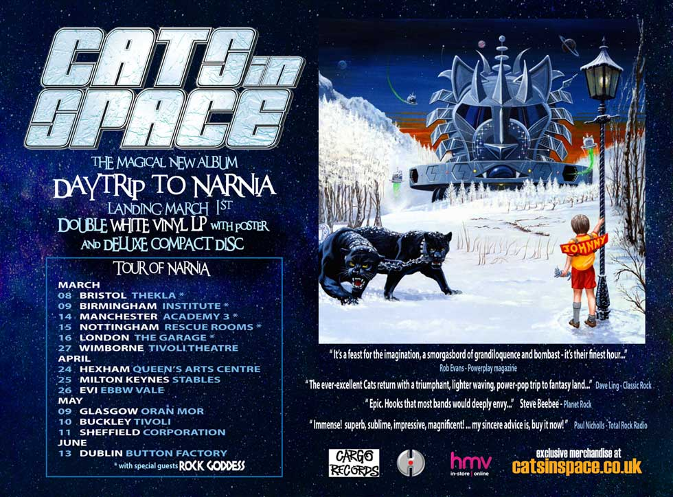 Cats In Space Rock Goddess Tour