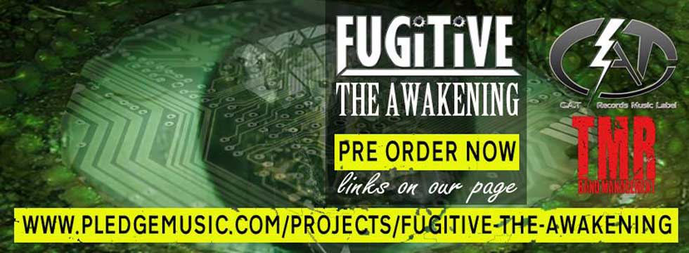 FUGITIVE announce 'The Awakening' new album, coverart and tracklisting revealved