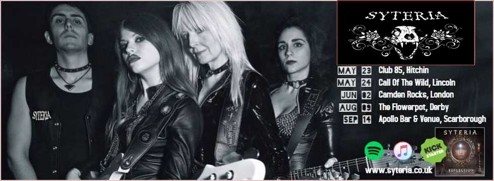 UK's SYTERIA Get Equipment Robbed, Jackie Chambers (Girlschool) Reachs Out!
