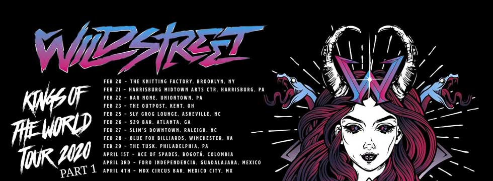 WILDSTREET Announce US Tour Dates + South America Shows with CRASHDÏET